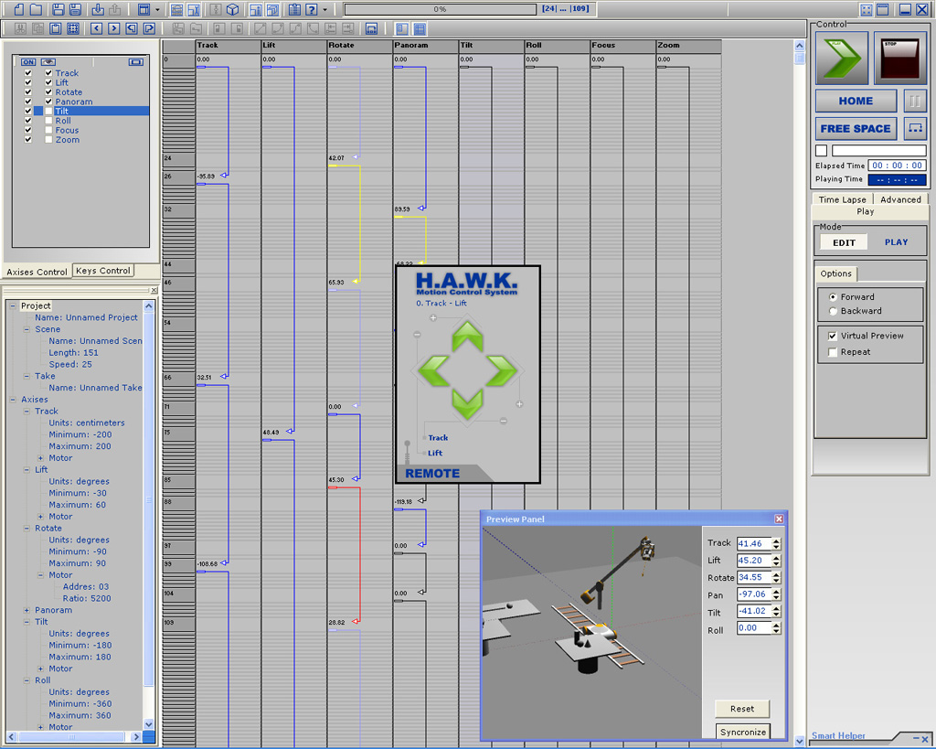 H.A.W.K. - Motion Manager - Remote control